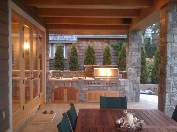 Outdoor cooking area todsen design for Outdoor cooking areas designs
