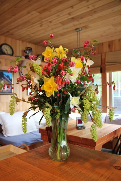 Flowers from friends…..