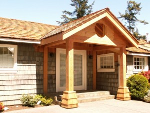 New covered entry porch