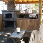 Outdoor fireplace & cooking station…..