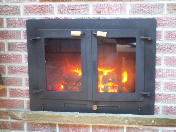 Outdoor fireplace doors…..