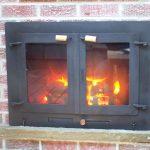 Outdoor fireplace doors…..