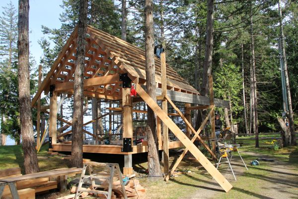 How to build a covered area…..Part Two