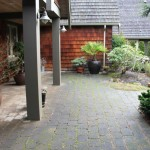 Power washing our concrete paving stones…..