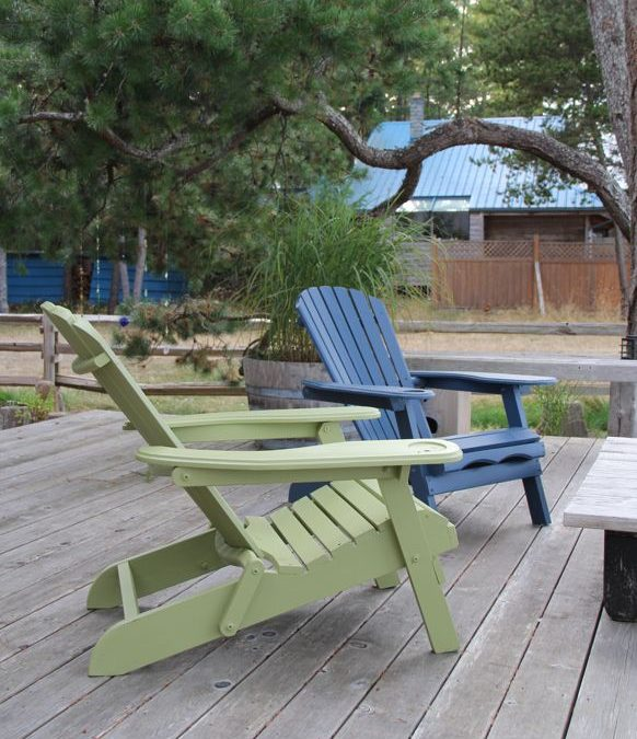 Painting the adirondack and wicker chairs…..